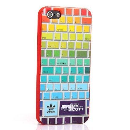 JEREMY SCOTT×ADIDAS (ジェレミースコット×アディダス)高級素材感 iPhone5ケース キーボード