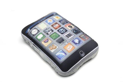 Funtime Gifts - Cuscino a forma di smartphone con icone di applicazioni