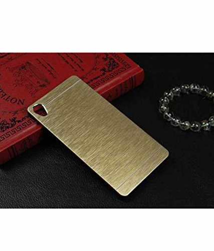 Exclusive Metal Finish Hard Back Case Cover For HTC Desire 626G+ 626G Plus - Golden