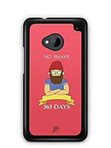YuBingo No Shave, 365 Days Mobile Case Back Cover for HTC One M7