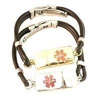 Key2Life USB Medi-Chip Black Silicone Bracelet