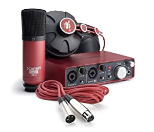 Brand New Focusrite | High-Quality Complete All-In-One Professional Recording Package for Musicians, SCARLETT STUDIO with Scarlet2i2 Audio Interface, Scarlet CM25 Condenser Microphone, Scarlet HP60 Headphones, Cables, and Cubase LE