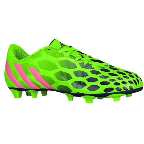 adidas Performance Women's Predito Instinct Firm-Ground W Soccer Cleat, Solar Green/Neon Pink/Collegiate Navy (Medium / 5 B(M) US) (Neon Green Football Cleats compare prices)