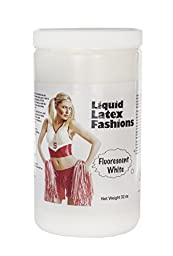 Ammonia Free Liquid Latex Body Paint - 32oz Fluorescent White