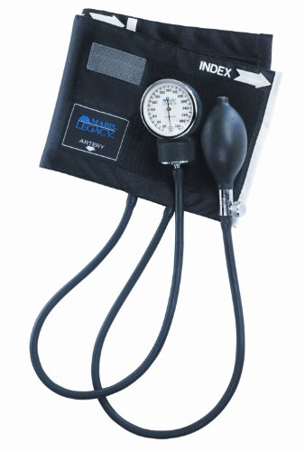 Mabis Dmi Healthcare 01-110-025 Mabis Legacy Aneroid Sphygmomanometer - Child, Black back-1036227