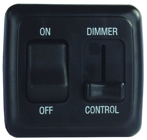Jr Products 12275 Black Dimmer On/Off Switch With Bezel
