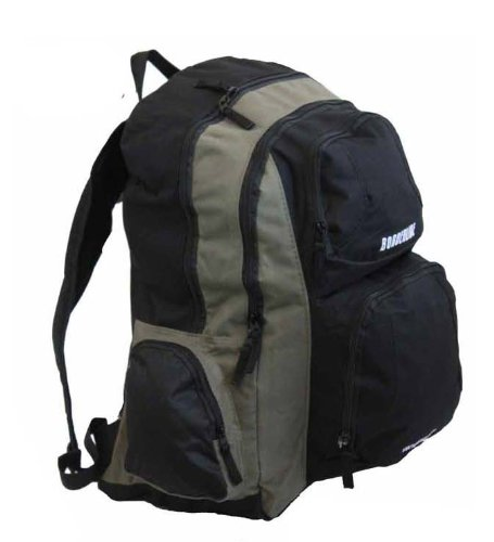 Get mens large backpack rucksack bag by mig sports for Fishing backpack amazon