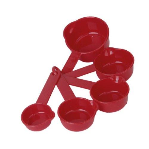 5 Pièces Tasses à mesurer en Plastique - Rouge