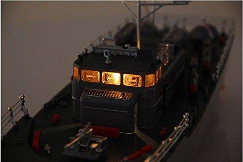 HT Warship Radio Remote Control Fish Torpedo Boat With Simulation Light Submarine Toy