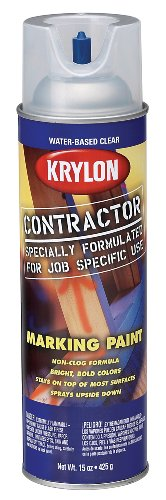 Krylon 7312 15-Ounce Water-Based Contractor Making Spray Paint, Chalk Line Clear