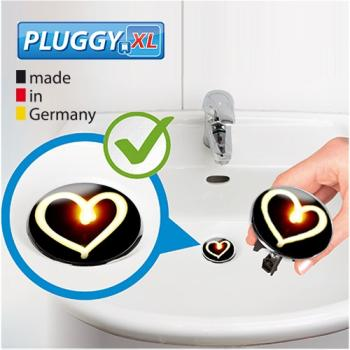 WENKO Pluggy XL Waschbeckenstöpsel Flame Heart