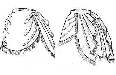 1872 Side Drape Overskirt Pattern