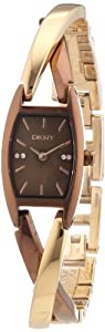 DKNY Women's Quartz Watch Crossover 3 Hand NY8439 with Metal Strap