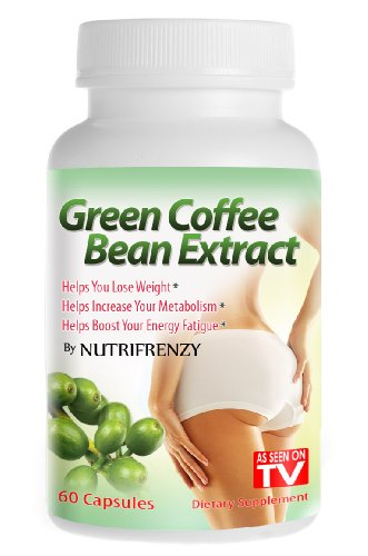 Green Coffee Bean Extract - 100% Pure! 800mg 60 Vegetarian Capsules, Weight Loss, 50% Chlorogenic Acids, Nutrifrenzy Brand