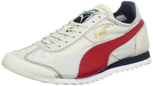 Puma Roma Slim Nylon Low Top Mens White Weià (white swan-ribbon red-mid 12) Size: 37.5