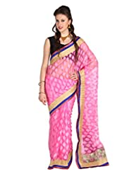 Mina Bazaar Brasso And Net Saree With Blouse Piece - B00NSCQ4DY