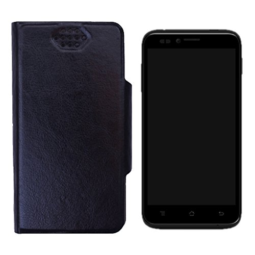 Shopme Flip cover for Panasonic P11 (Black Color)(PU Leather, Access to all Ports, complete mobile Protection,Extremely durable)  available at amazon for Rs.199