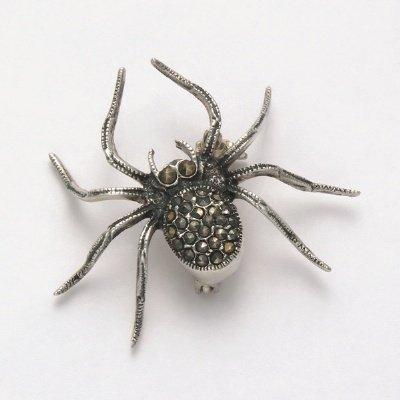 Marcasite Spider Pin