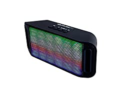 SoundLogic Rager II - LED Light Show Speaker with Bluetooth/FM/USB Slot/Micro - SD Slot/Aux port and mic for phone calls