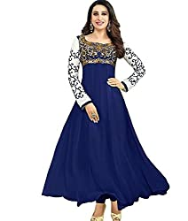 Divyaemporio Women'S Navy Blue Faux Georgette Salwar Suits Dress Material