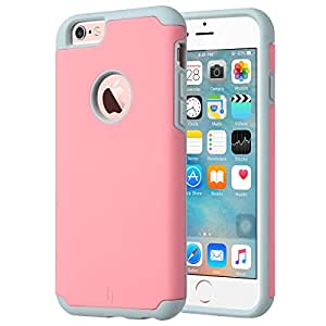 iPhone 6S Case (4.7 inch), ULAK [SUGARCANDY] Premium iPhone 6 Case Bumper Slim Hybrid [Corner Protection] Dual Layer Shockproof TPU Bumper Case for Apple iPhone 6S 4.7 / iPhone 6 4.7 (Pink/Grey)