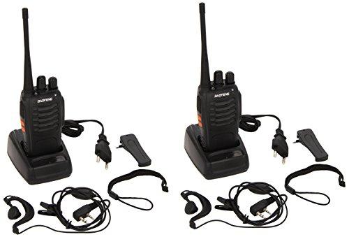 Baofeng - Set de 2 Walkie Talkie negros - Alcance de hasta 3 km - Modelo: BF-888S UHF 400-470 MHz CTCSS