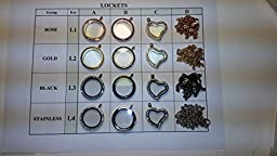 Locket Charms Floating Charms for Origami Owl Floating Lockets, Pack of 10