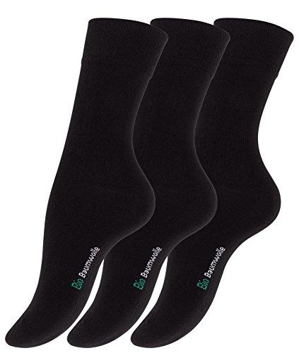 Lot-de-12-paires-de-dames-chaussettes-noir-fabriqus--partir-de-coton-biologique