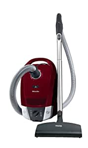 Miele S6270 Topaz Canister Vacuum Cleaner, Tayberry Red (Old Model)