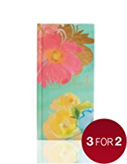 Illustrated Floral Slim Week to View 2014 Diary