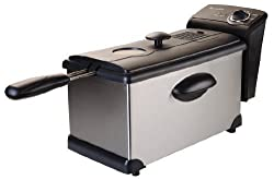Continental Electric 3-Liter Stainless Steel Deep Fryer