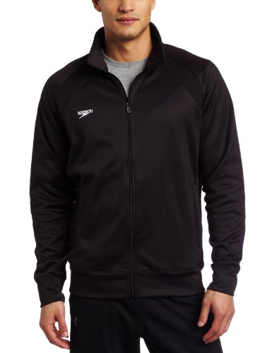 Speedo Mens Sonic Warmup Jacket, Black, Large