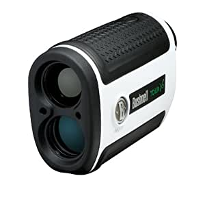 Bushnell Tour V2 Golf Laser Rangefinder, Standard Edition, Limited Edition  (White)