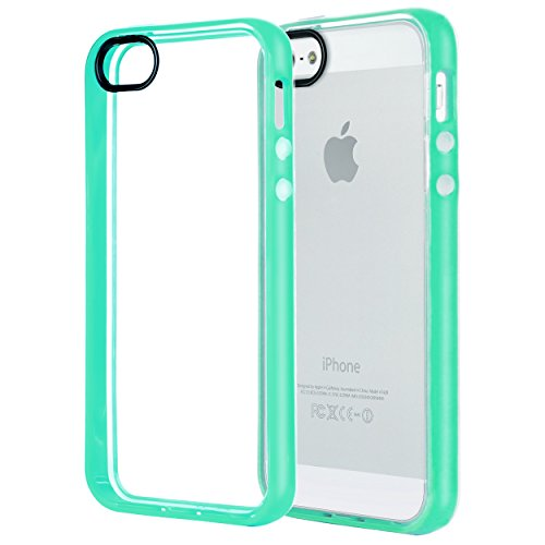 iPhone 5s Case,iPhone SE Case,iPhone 5 Case,by Ailun,Injected&Sealed Bumper,Ultra Clear Transparency,Shock-Absorption,Anti-Scratch&Fingerprints Back Cover,Siania Retail Package[Mint Green] (Packages Of Iphone 5s Cases compare prices)