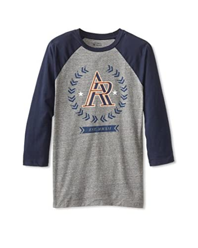 athletic recon Men's Ar Crest Three Quarter Raglan Tee