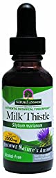 Nature\'s Answer Alcohol-Free Milk Thistle Seed, 1-Fluid Ounce