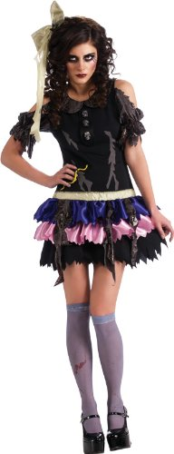 Rubie's Costume Zombie Doll Dress Headpiece and Thigh-Highs