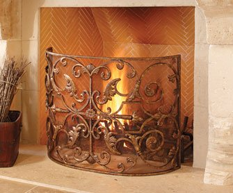 Gold Leaf Fireplace Screen