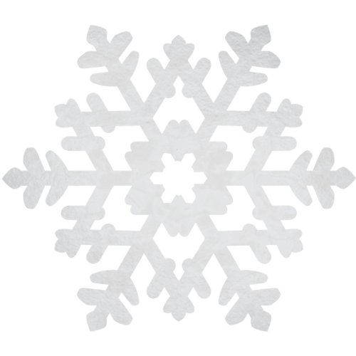 cutout foil snowflake 15 inches - 1