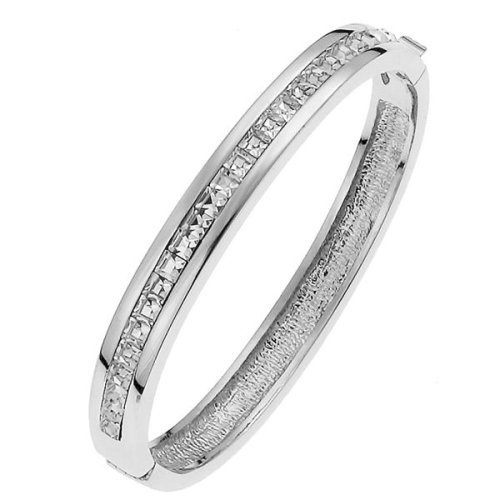 Ladies' Crystal Bangle, Rhodium Plated, Model 8254, by Oliver Weber