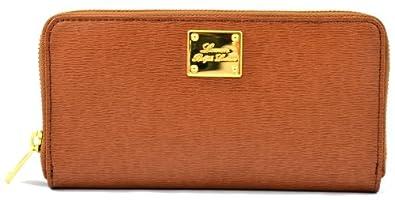 Ralph Lauren Women's Sloan Street Zip Around Wallet Tan