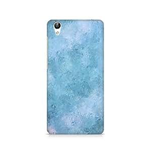 Ebby Blue Abstract Flourish Premium Printed Case For Vivo Y51L