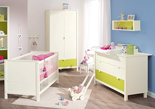 babybett weiss kinderbett mit lattenrost schlafzimmer. Black Bedroom Furniture Sets. Home Design Ideas