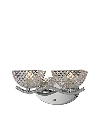 Artistic Lighting Contour Collection 2-Light Bath Bar, Polished Chrome