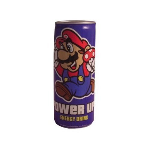 Super Mario Brothers Power Up! Energy Drink 8.4 oz