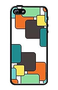 KanvasCases 2D Printed Back Cover For Apple iPhone 5/5s (Black Edge) + Free E...