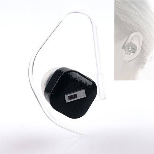 Cisno Smart Smallest Bluetooth 3.0 Single Blue Headphone Headset For Iphone Galaxy-Black