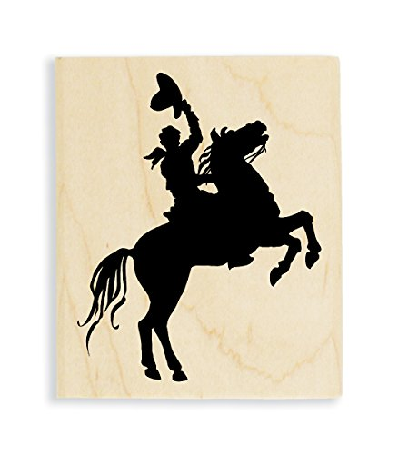 Stampendous Horse and Rider Rubber Stamp