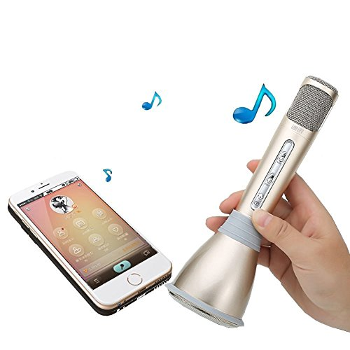 Wizzit© Bluetooth Karaoke Microphone With Speaker; Compatible With IPhone, Android, IPad, Smartphone, PC; Functions...