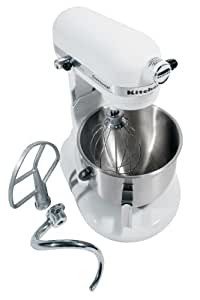 KitchenAid KM25G0XWH Commercial Series 5-Quart Stand Mixer, White